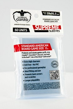 Ultimate Guard - Supreme Sleeves Board Game Standard American (60)