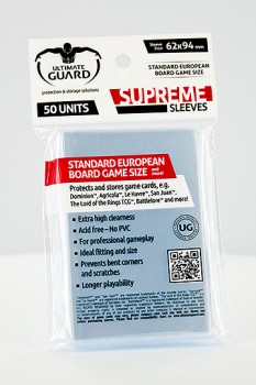 Ultimate Guard - Supreme Sleeves Board Game Standard European (50)