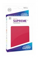 Ultimate Guard - Supreme UX Sleeves Standard Size Matte Red (80)