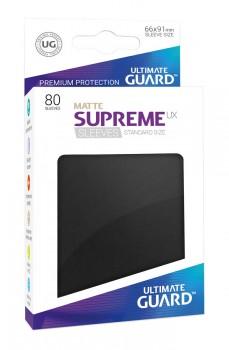 Ultimate Guard - Supreme UX Sleeves Standard Size Matte Black (80)