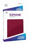 Ultimate Guard - Supreme UX Sleeves Standard Size Matte Burgundy (80)